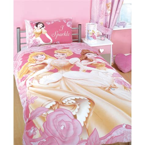 Disney Princess Bedding I Sparkle Single Duvet Set Disney Princess Bedding Sets