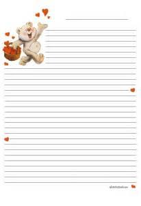 Modèles De Papier à Lettre Gratuit A La Cole Papiers Lettres A Imprimer A4