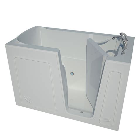 bathtubs at lowes shop endurance 32 in white acrylic walk in bathtub with right hand drain at lowes com