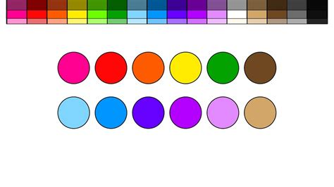 color circles learn colors for and color circles that turn into