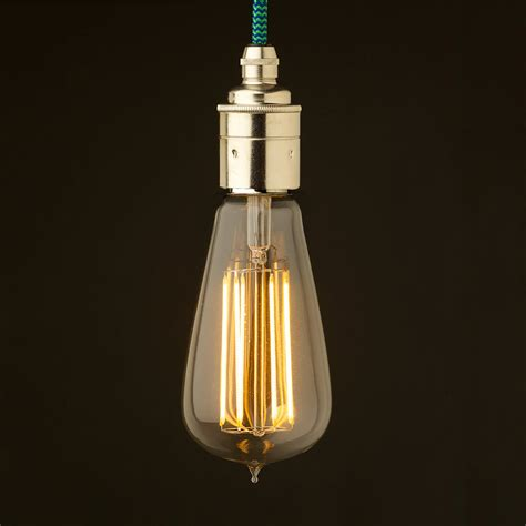 Led Pendant Light Fittings Edison Style Light Bulb E27 Smooth Nickel Fitting