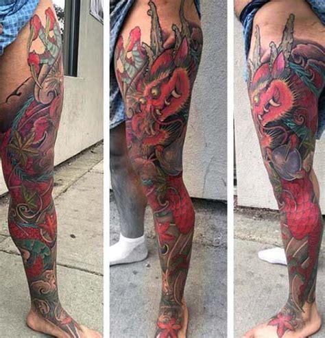 dragon tattoo leg sleeve 90 japanese dragon tattoo designs for men manly ink ideas