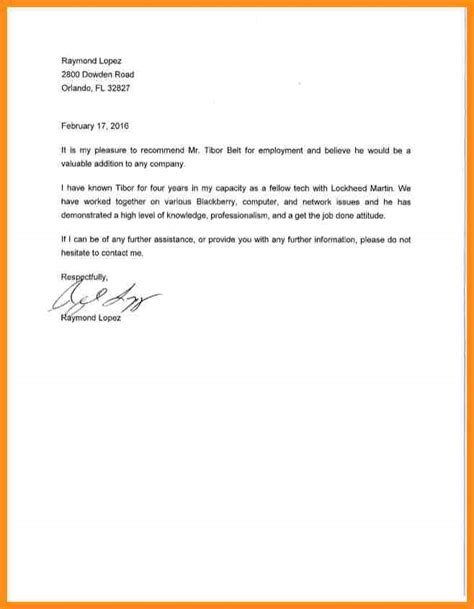 Reference Letter For Colleague 9 Letter Of Recommendation Coworker Parts Of Resume