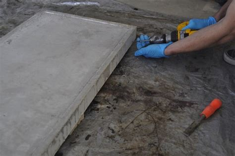 concrete table molds diy concrete tabletop bob vila