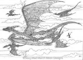 new dragon colouring 5 page pdf booklet now
