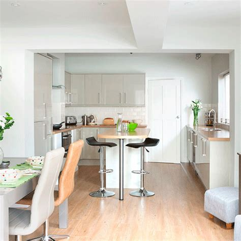 open plan neutral kitchen kitchen diners housetohome co uk take a tour of this light and modern kitchen ideal home