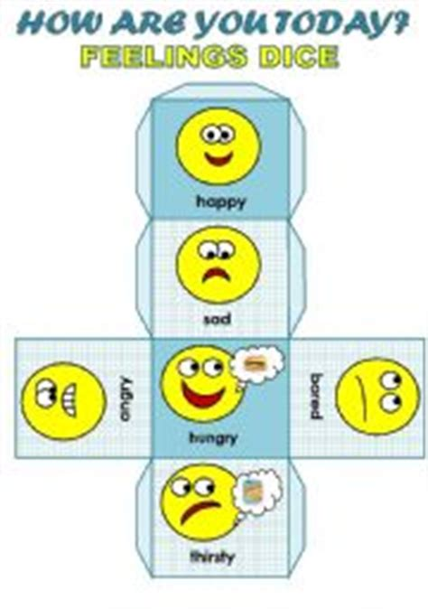 printable emotions dice how are you today feelings dice for young learners