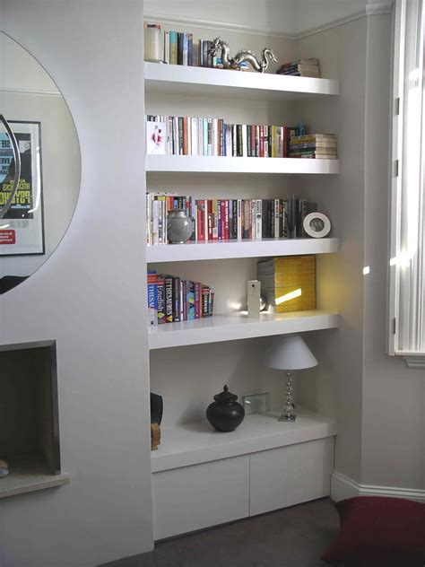bathroom alcove shelves chubby floating shelf alcove cupboard by peter henderson