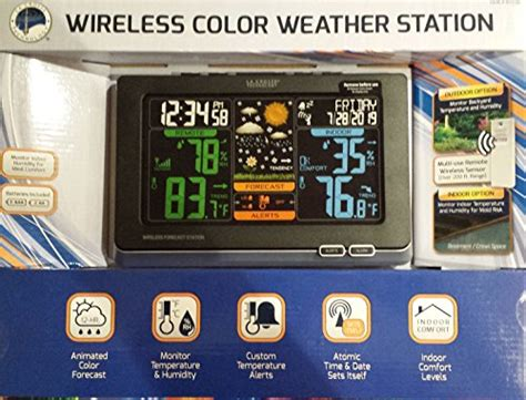 la crosse wireless color weather station home decor