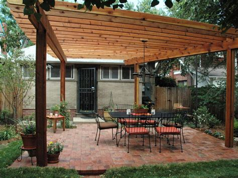 building a backyard deck how to build a wood pergola hgtv