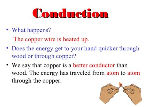 What Happens In Or Coduction Convection And Radiation