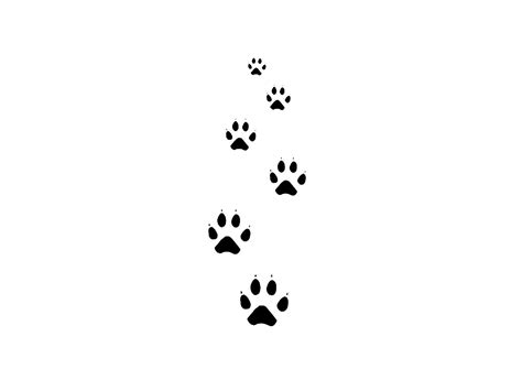cat print tattoo designs cat tattoos free designs cat paw tracks