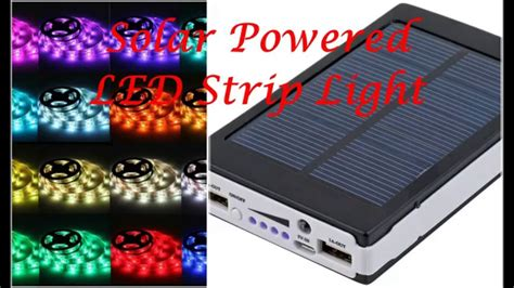 solar powered led strip lights solar battery powered 5050 rgb led strip light kit
