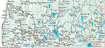 southern oregon map map of lakes in southern oregon cing in pnw food