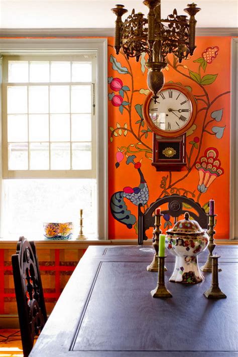 dining room wall murals spice up your dine with best eclectic dining rooms
