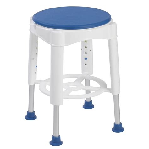 stool bathroom deluxe bath shower stool with swivel padded seat