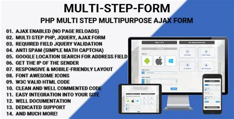 Download Multi Step Form Php Multi Step Multipurpose Ajax Form Wordpress Themes Html Multi Step Form Template