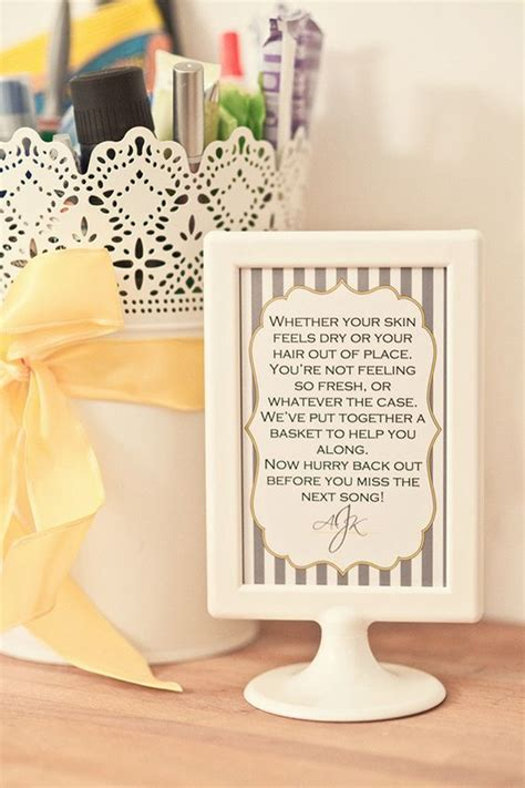 wedding guest bathroom basket wedding feminine hygiene and frames on pinterest
