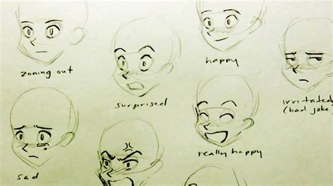 draw  manga face  expressions youtube