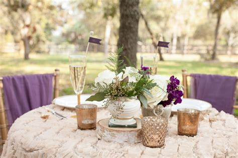 Mauve Home Decor by Rustic Chic Champagne And Purple Wedding Inspiration