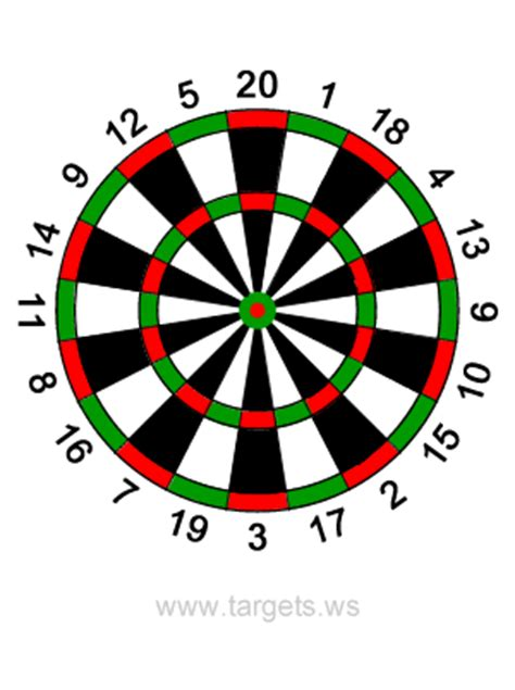 printable dart board targets calendar june