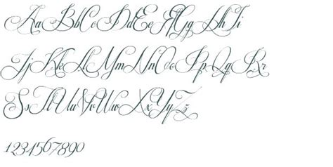 tattoo fonts x fancy cursive stencils respective font download free