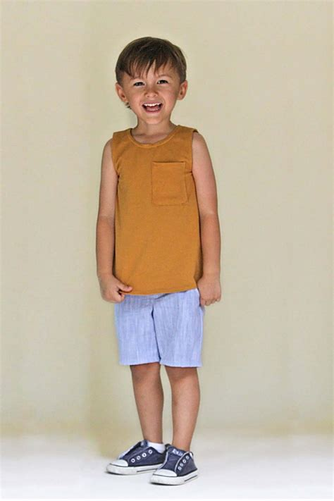 Tank Top X Boy blank tank top sewing pattern boys toddler 18m 2t 3t