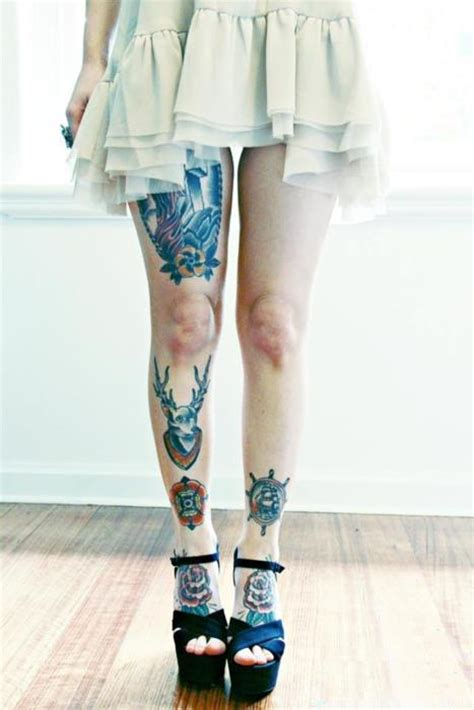tattoo design for girl on leg tattooed girl s legs best tattoo ideas designs