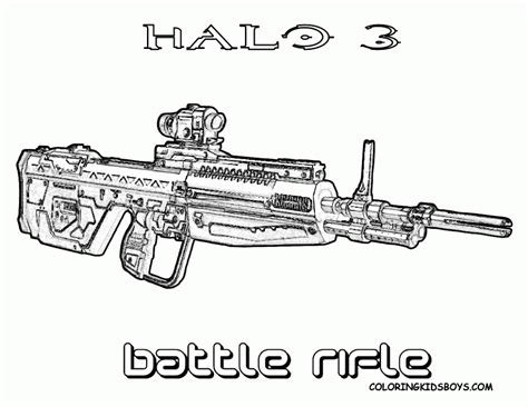 coloring pages of pixel gun halo gun battle rifle coloring pages other best images