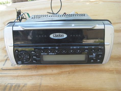 used boat stereo sold sold used clarion xmd3 marine sterio the hull