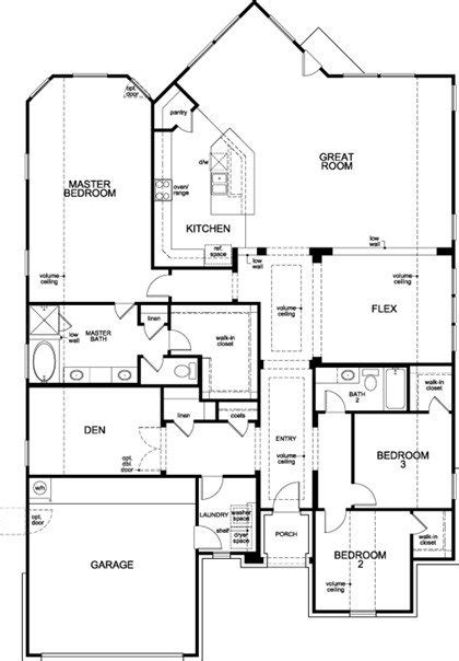 kb homes floor plans luxury black ranch floor plan