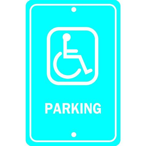 Home Depot Sign In by Brady 18 In X 12 In Aluminum Handicapped Parking Sign