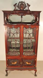Ornate Display Cabinets by Ornate Mahogany Display Cabinet Antiques Atlas