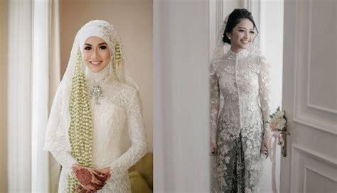Baju Akad Nikah Warna Gold 20 inspirasi model kebaya putih untuk akad nikah demi penilan yang anggun dan megah
