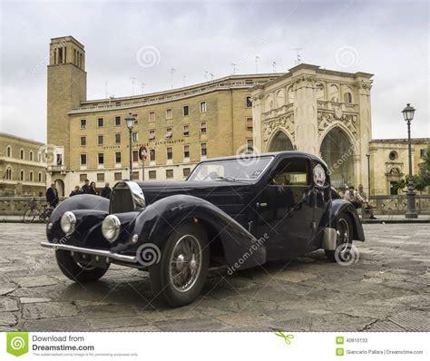 vintage bugatti veyron old vintage classic car bugatti lecce editorial stock