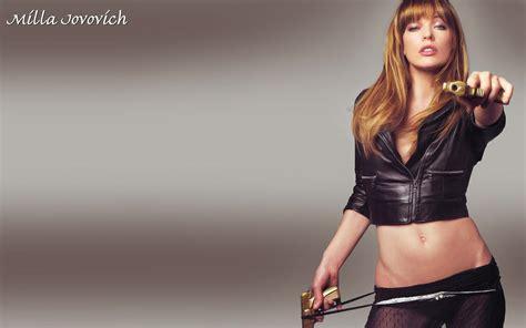 leather girls beautiful with guns desktop