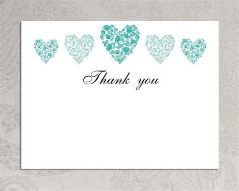 Items Similar To Thank You Card Template Trio Of Hearts Download Printable Microsoft Word Free Thank You Card Template Word