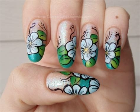 tutorial nail art one stroke one stroke nail art tutorial