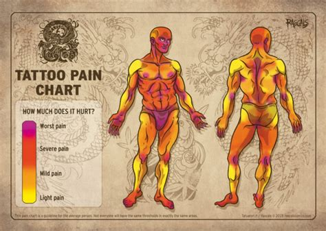 upper arm tattoo pain level tattoo pain chart how much will it hurt