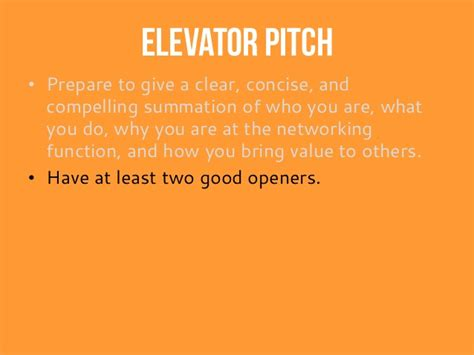 Elevator Pitch Exles For Mba Students by Elevator Pitch Exle I