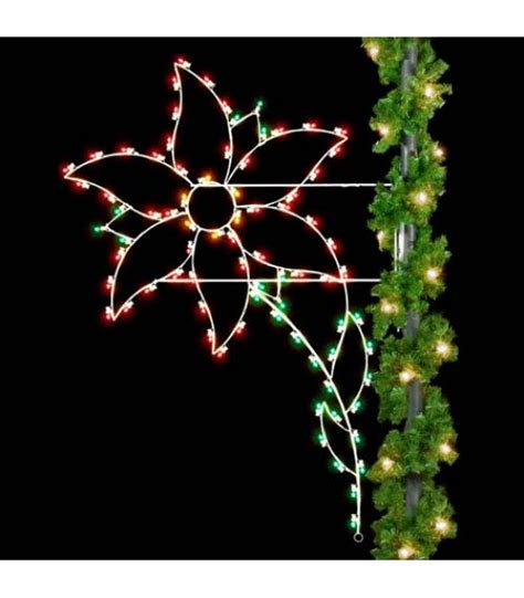 8 poinsettia pole displays all american christmas co