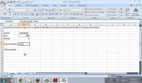 como calcular intereses moratorios en excel interes simple excel youtube