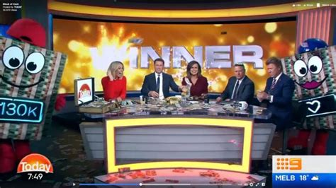 Channel 9 Today Show Cash Giveaway - viewers fume as today s 130 000 giveaway labelled a set