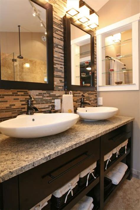 tile accent wall in bathroom a travertine and glass tile accent wall master bathroom
