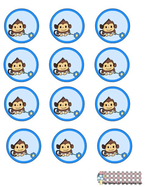 Monkey Stickers Baby Shower by Free Printable Monkey Baby Shower Kit For Baby Boys Oh