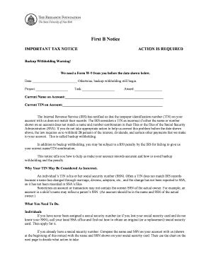 first b notice sample letter fill online, printable
