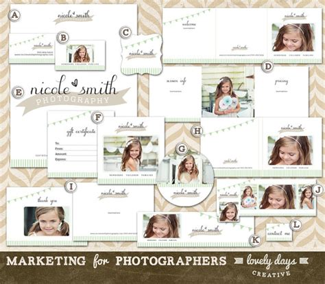 Free Photography Marketing Templates by Photography Marketing Templates Branding Set For Photographers