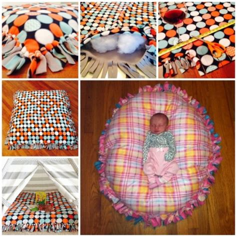 No Sew Fleece Pillow Directions by Diy No Sew Floor Pillow