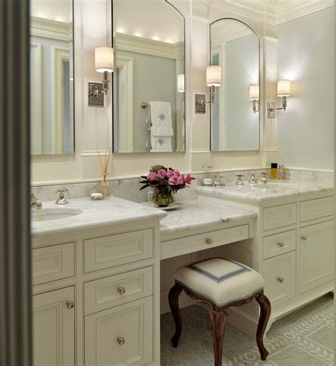 Awesome interior the awesome bathroom vanities with makeup table pertaining to provide home with