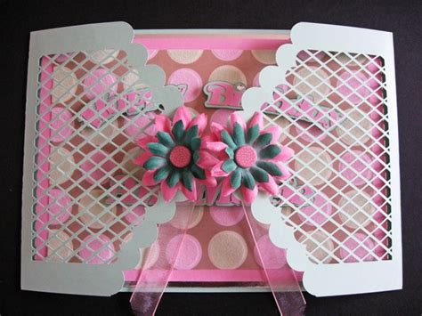 gate fold card template gatefold scalloped lattice card template
